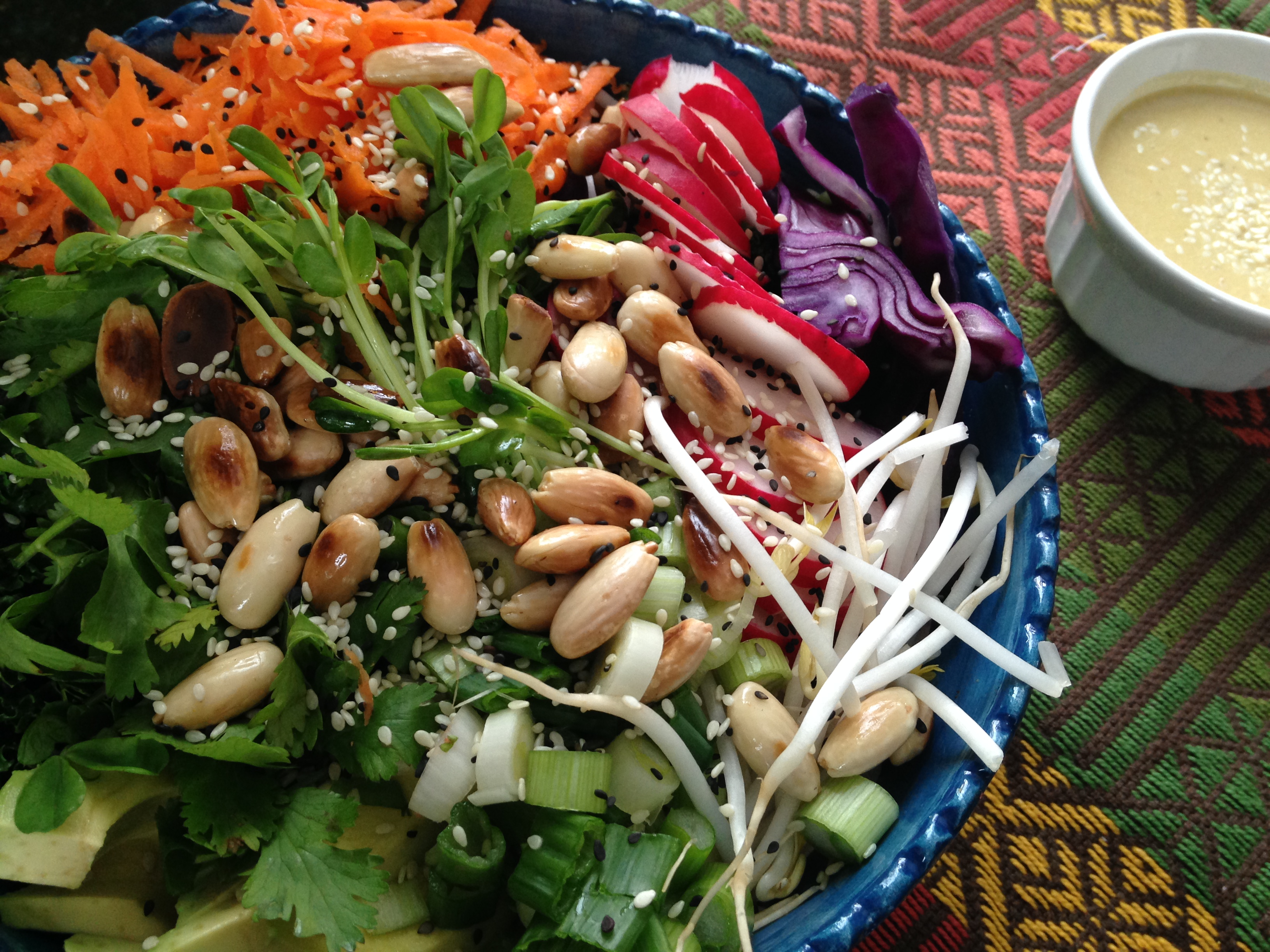 Spring Detox Salad with Tahini Lemongrass Dressing