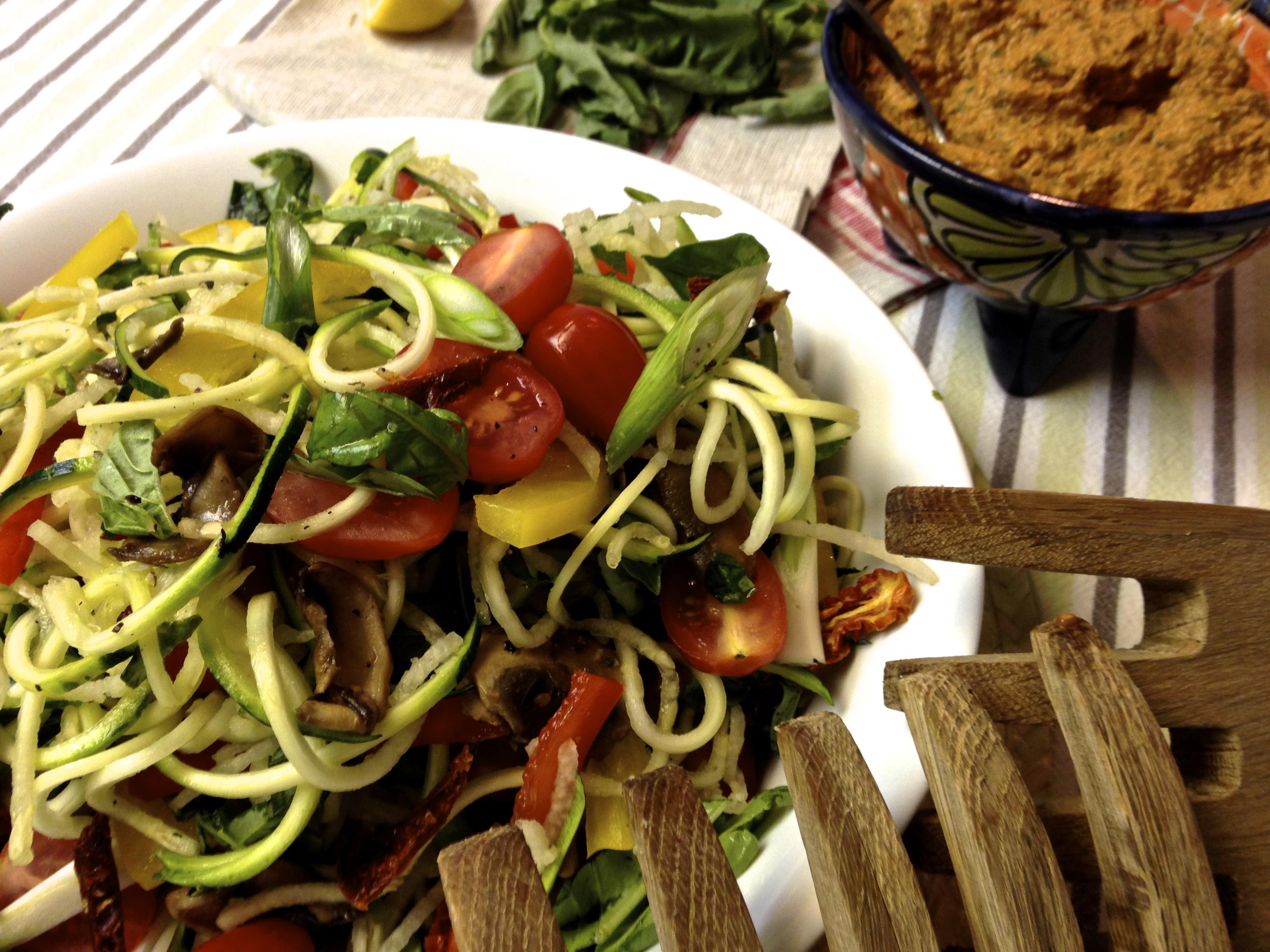 Sun-dried Tomato Pesto Zucchini Noodles