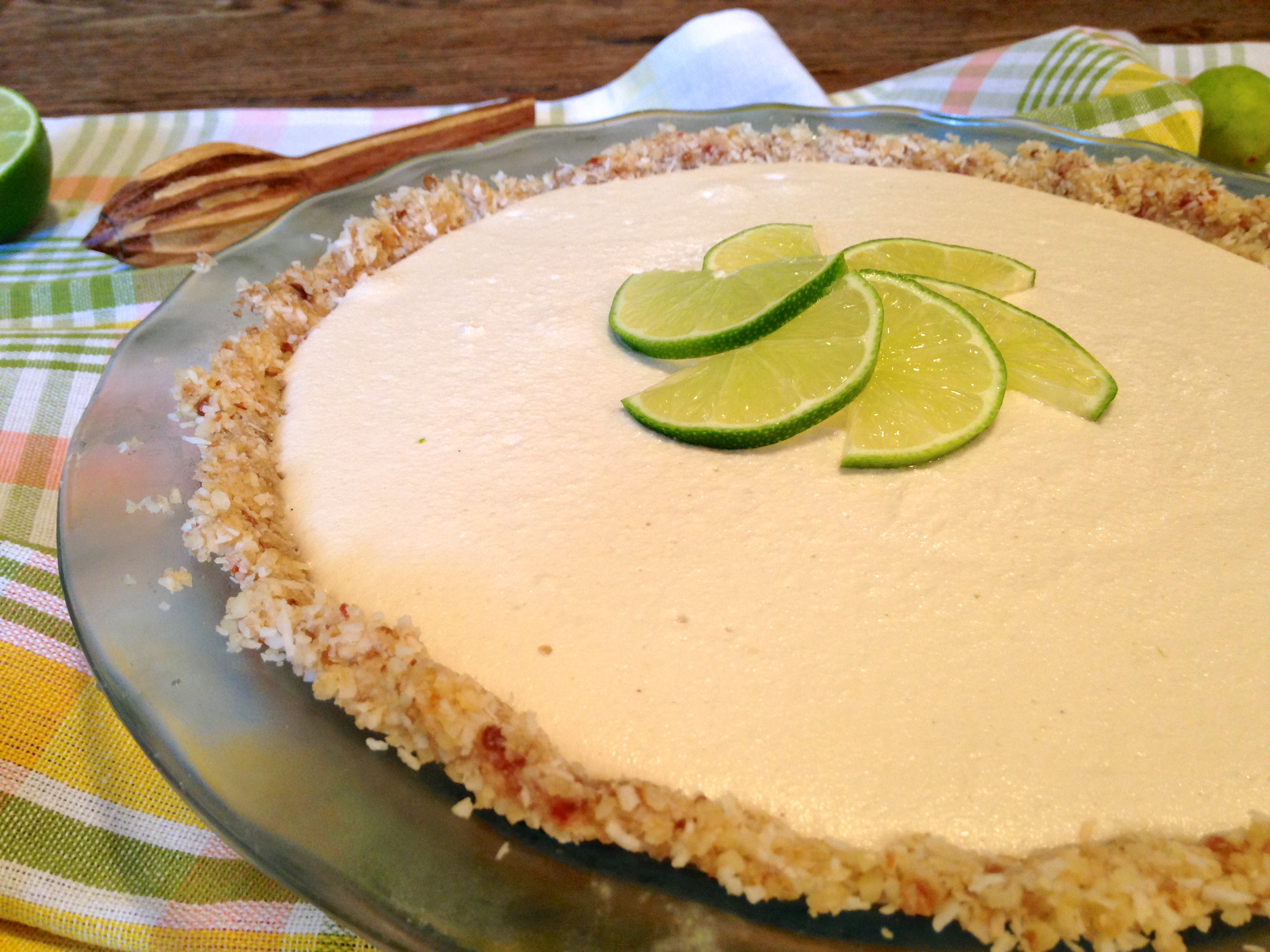 Coconut Macadamia Key Lime Pie