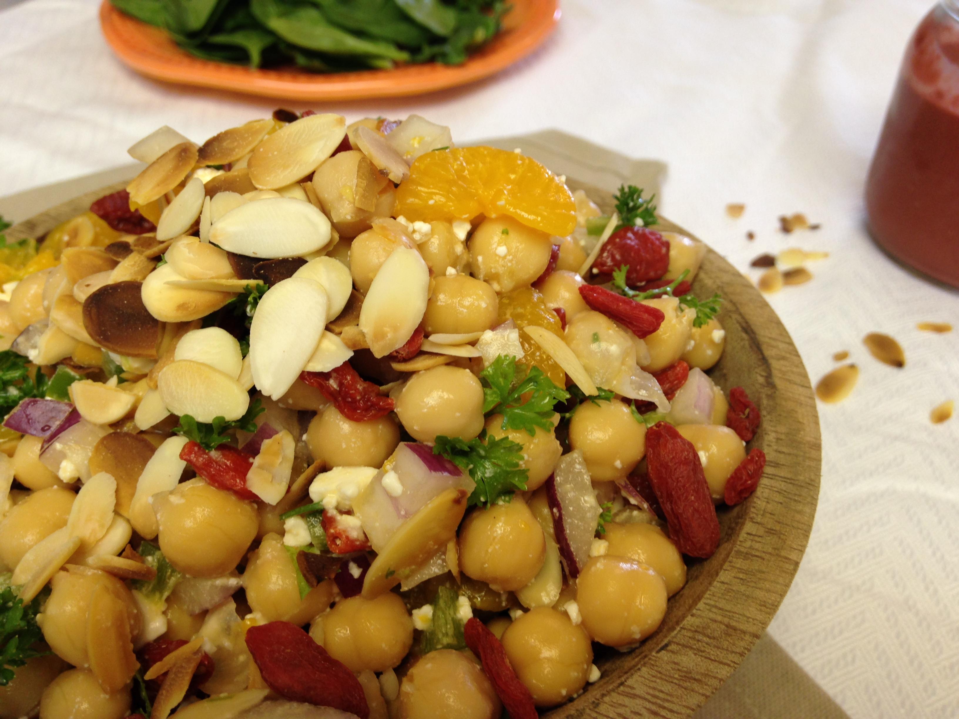 Chickpea Goji Salad
