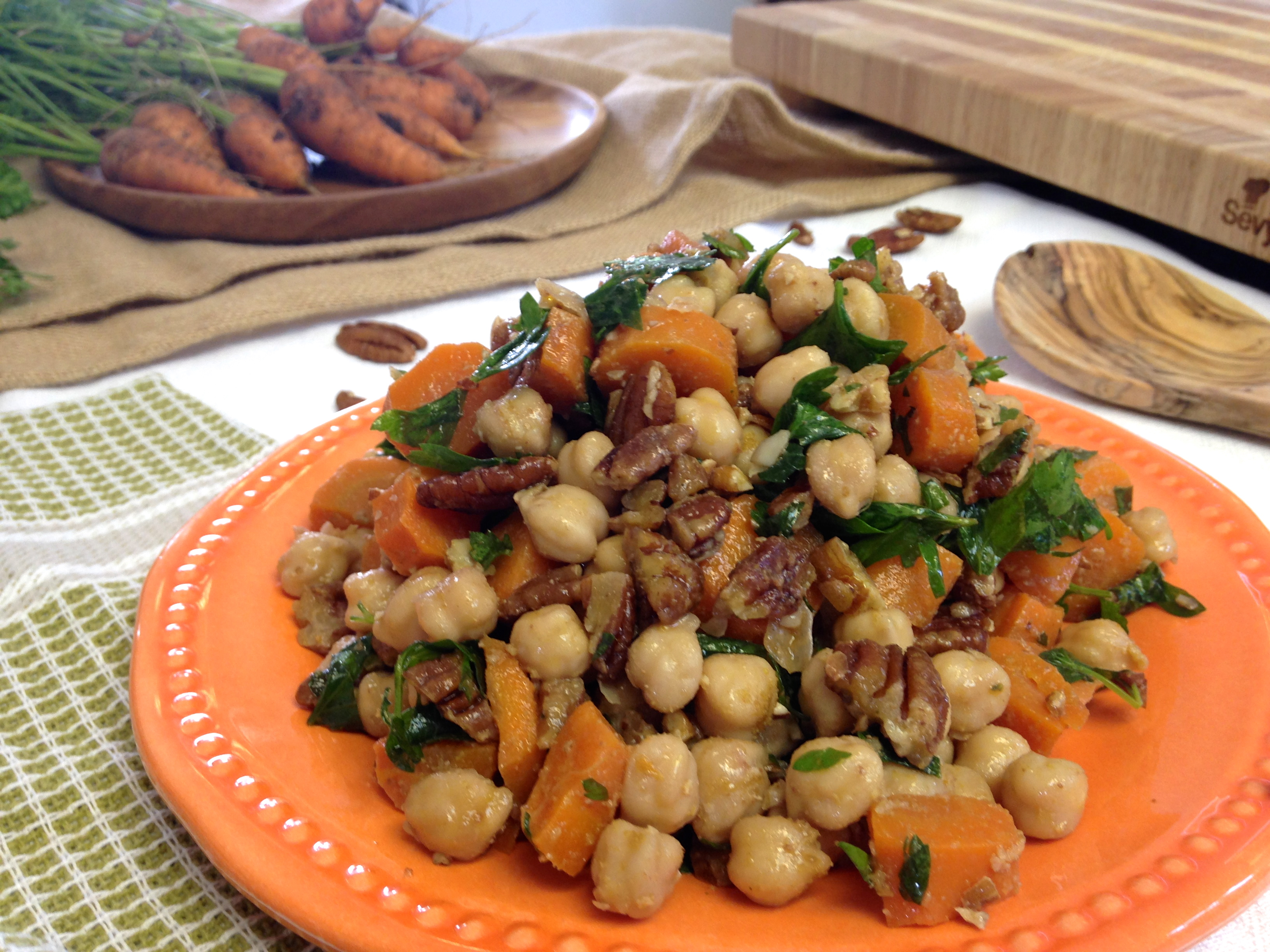 Moroccan Chickpea & Roasted Carrot Salad