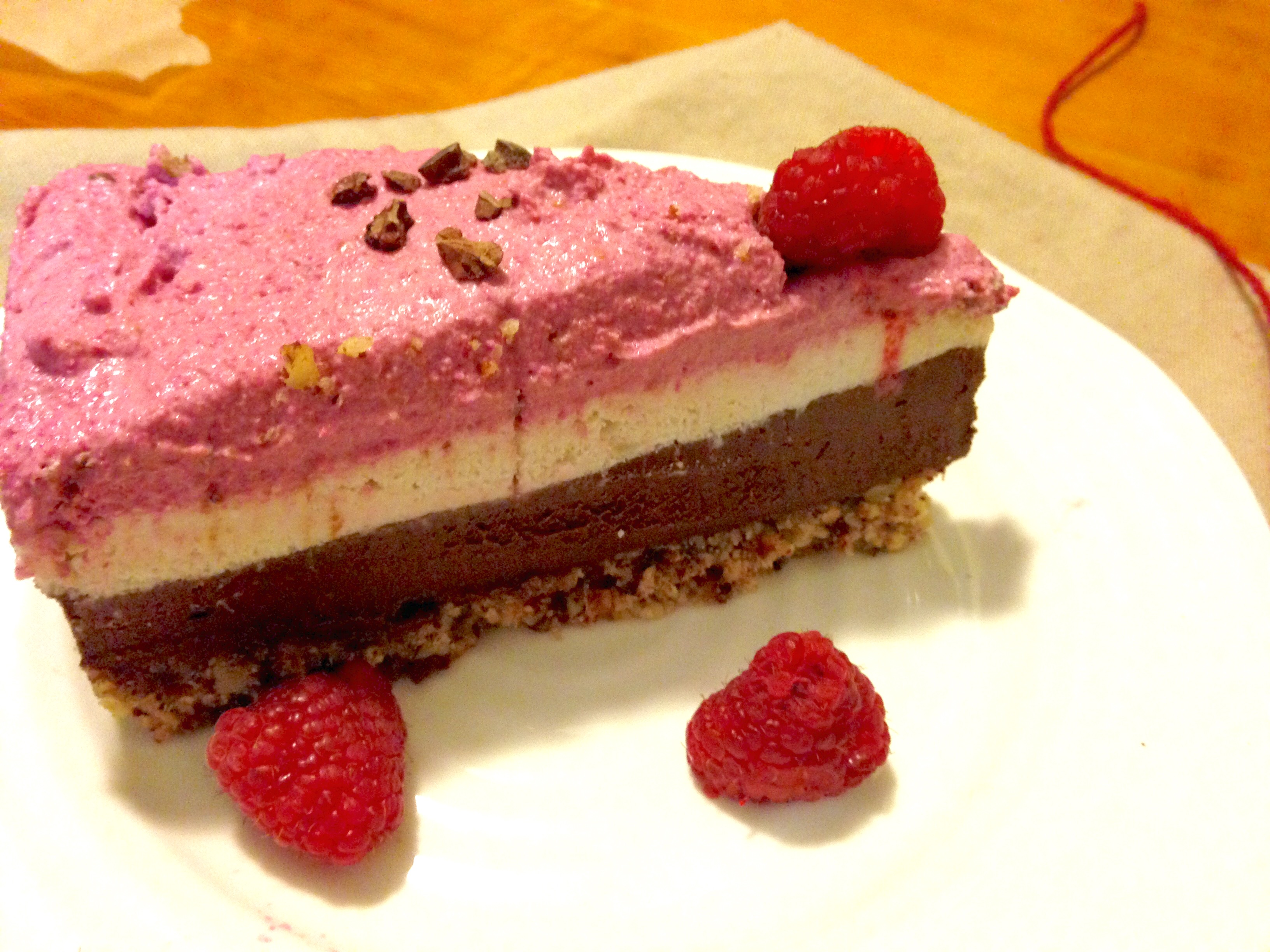 Chocolate Raspberry Layer Cake (gluten-free & vegan)