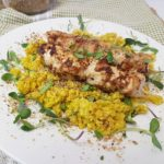 Lemon Chicken with Coconut & Turmeric Cauli-Rice