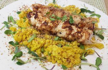Lemon Chicken with Coconut & Turmeric Cauli-Rice