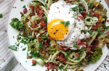 Pesto Zoodle Carbonara